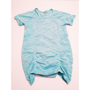 Size M Athleta teal and white athletic shirt